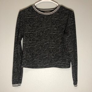 Abercrombie & Fitch Heather Cropped Sweatshirt